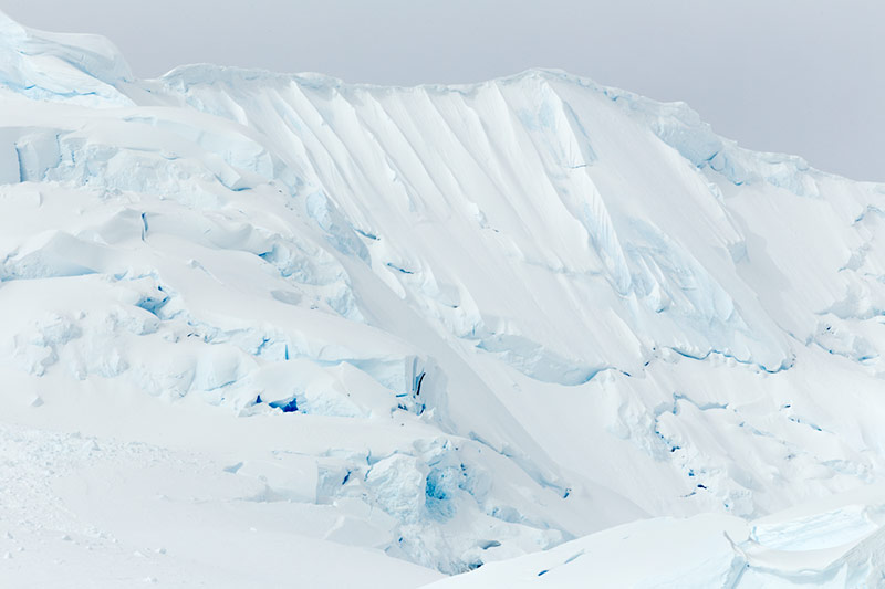 Ice Encrusted Mountains. Neko Harbor, Antarctica