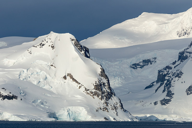 Shadow and Peaks. Neko Harbor, Antarctica