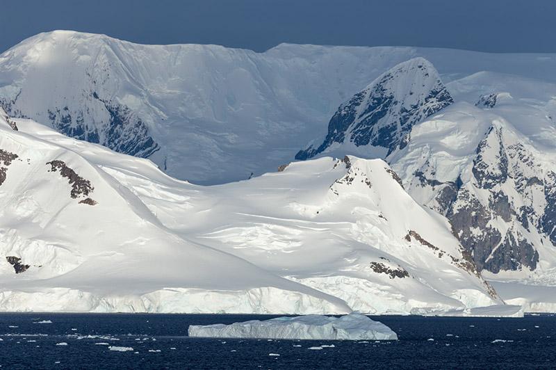 Neko Harbor Mountain Peaks. Antarctica