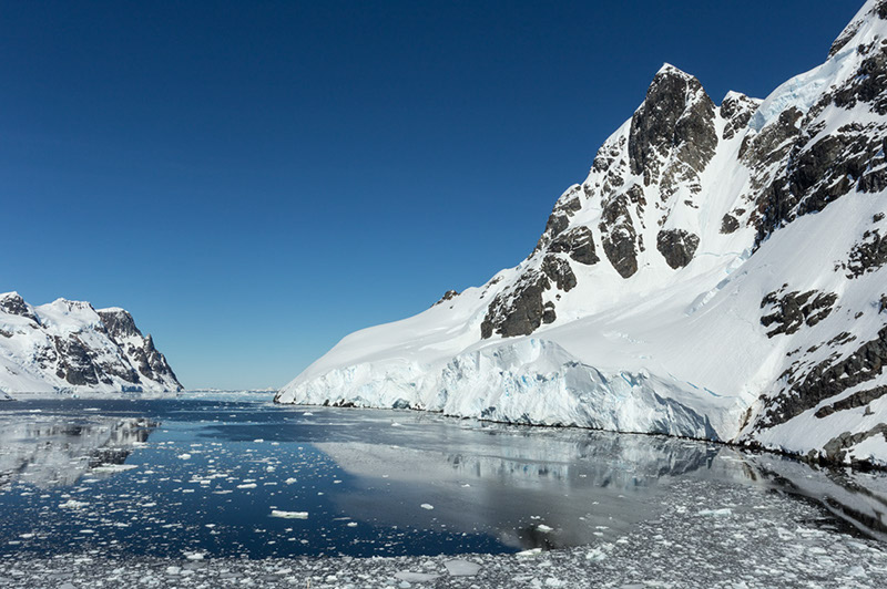 Edge of the Channel. Lemaire Channel, Antarctica