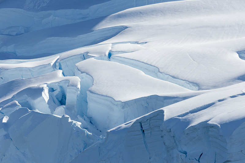 Ice Fissures. Lemaire Channel, Antarctica