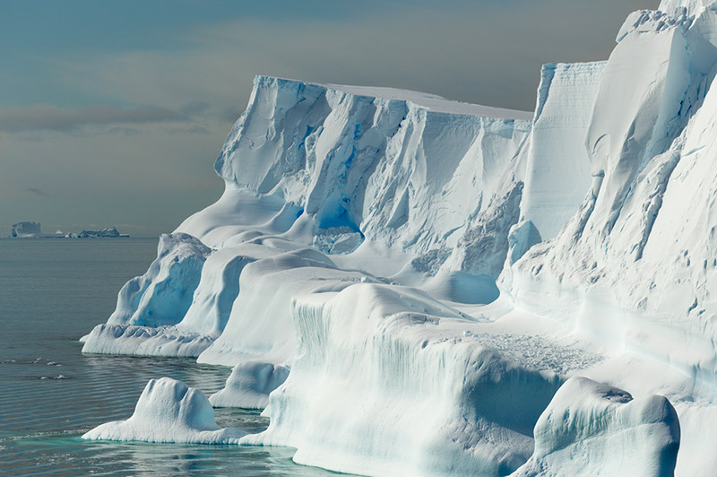 Sea Ice. Dallmann Fjords, Antarctica