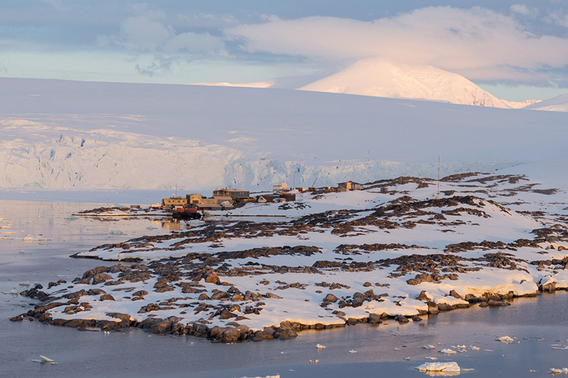 Palmer U.S. Research Station. Anvers Island, Antarctica
