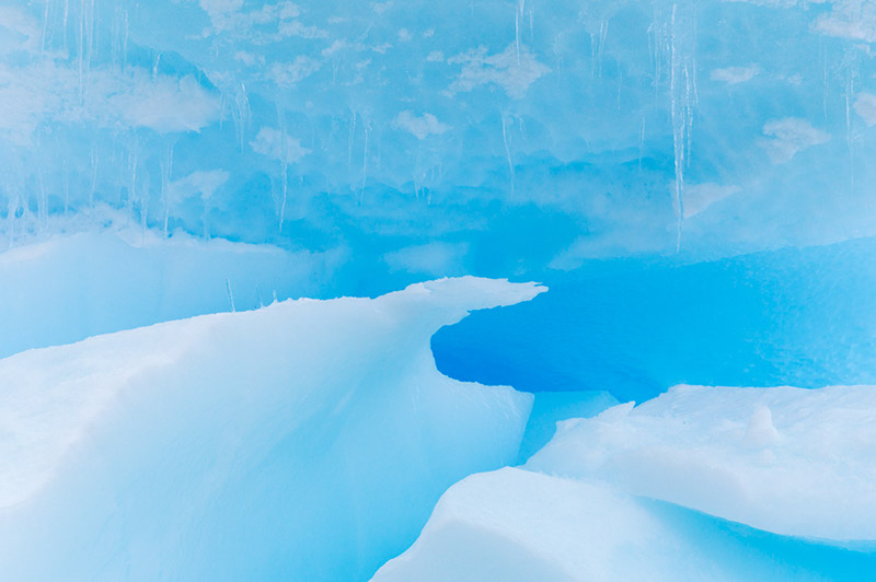 Glacial Blue Ice. Dallmann Fjords, Antarctica