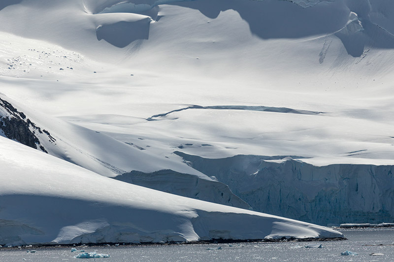 Glacial Drifts. Palmer Archipelago, Antarctica