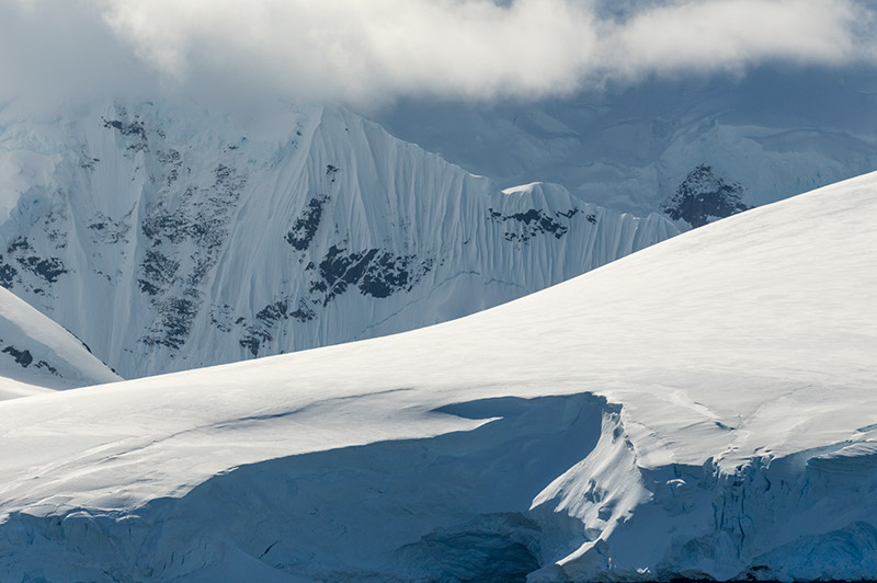 Ice Layers. Palmer Archipelago, Antarctica