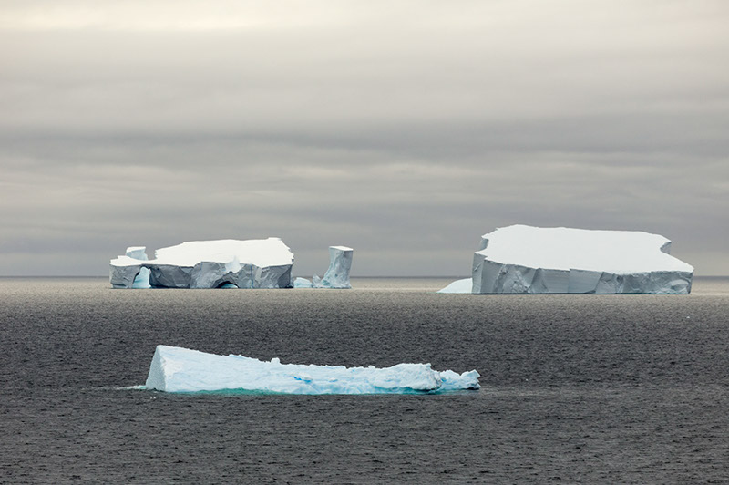 Sea Ice. North of Antarctica