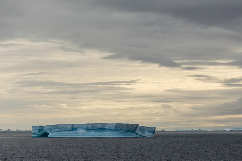 Iceberg. Pacific Ocean North of Antarctica