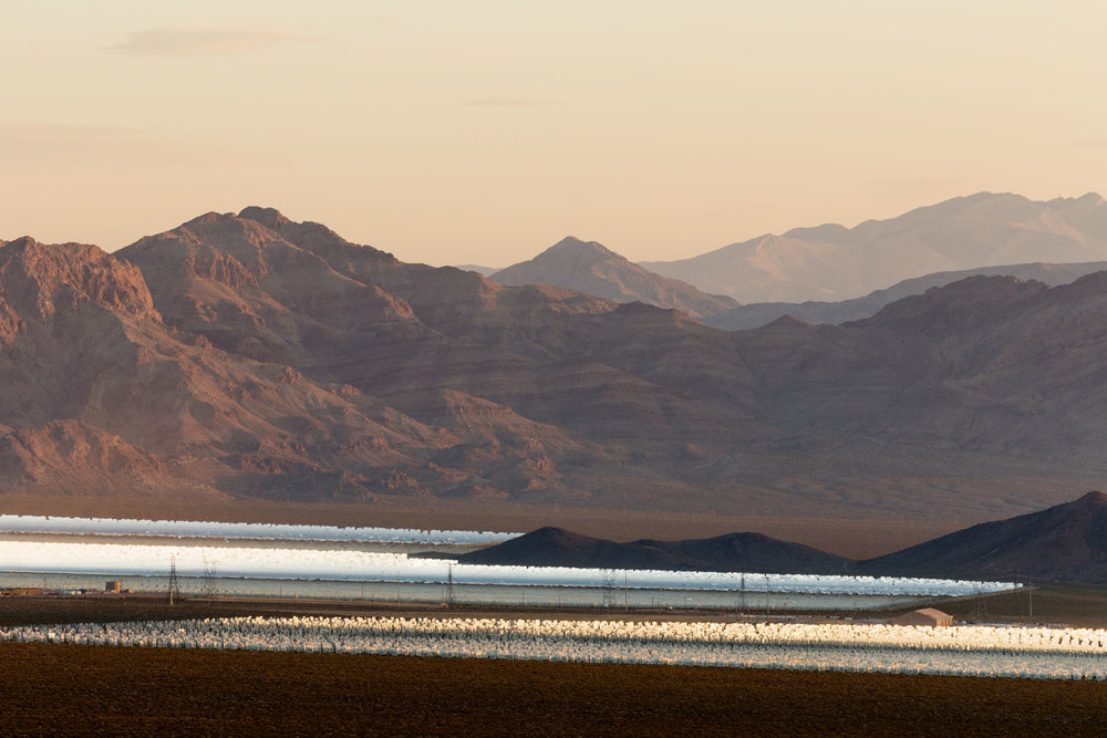 Ivanpah Thermal Solar Plant, CA. Study #9 (35,28.6328N 115,26.9870W)