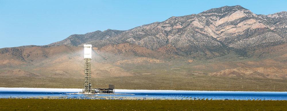 Ivanpah Thermal Solar Plant, CA. Study #14 (35,32.4513N 115,25.2447W)