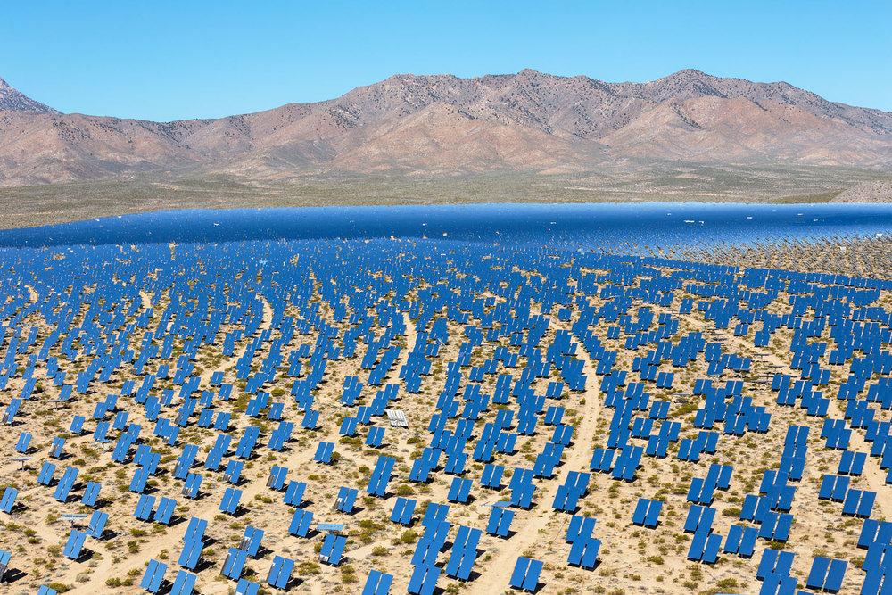 Ivanpah Thermal Solar Plant, CA. Study #1 (35,34.1816N 115,27.9056W)