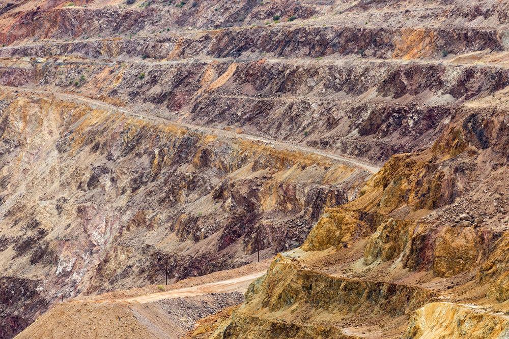 Lavender Pit Mine, Bisbee AZ. Study #9 (31,26.3482N 109,54.7069W)