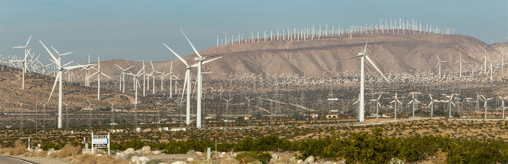 San Gorgonio Pass Wind Farm. Palm Springs, CA. Study #1 (33,55.4900N 116,32.9784W)
