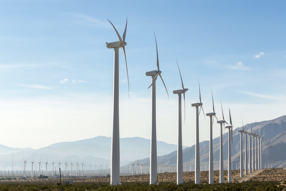San Gorgonio Pass Wind Farm. Palm Springs, CA. Study #3 (33,55.4757N 116,35.2571W)