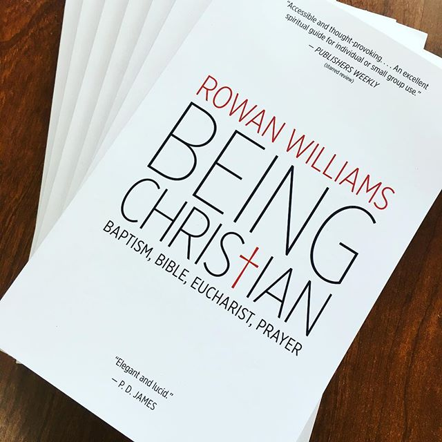 'Introducing Christianity' class books came in today! Get yours while they last for the incredible price of just $9! #BeingChristian #RowanWilliams  #NewMemberClass2018