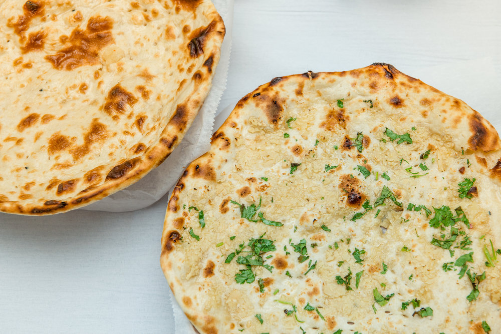 Plain and Garlic Naan