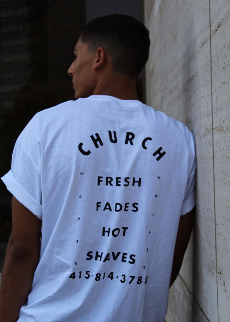 church fresh fades hot shaves tshirt