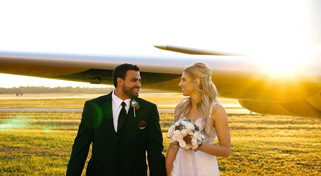 Mindy + Kevin were so much fun to capture - it was truly a one-of-a-kind day and love story. They flew into their reception in style, right as the sun was setting (yes, that is right literally flew in on a plane.) Their sweetness and excitement for one another was contagious + we've never seen a dance floor more poppin'. 💛