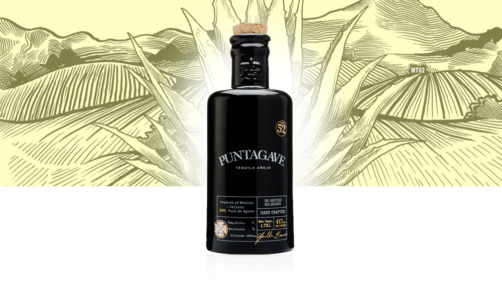 PUNTAGAVE ARTISANAL ANEJO 82-PROOF  There's a lot of agave upfront that's set off with caramel, sweet fruit, and a hint of cooked Agave. Puntagave Black edition Añejo does show its high-proof strength with some gentle heat, but it's keenly eclipsed by a round mix of spice, citrus and pepper that finishes long and lasting.