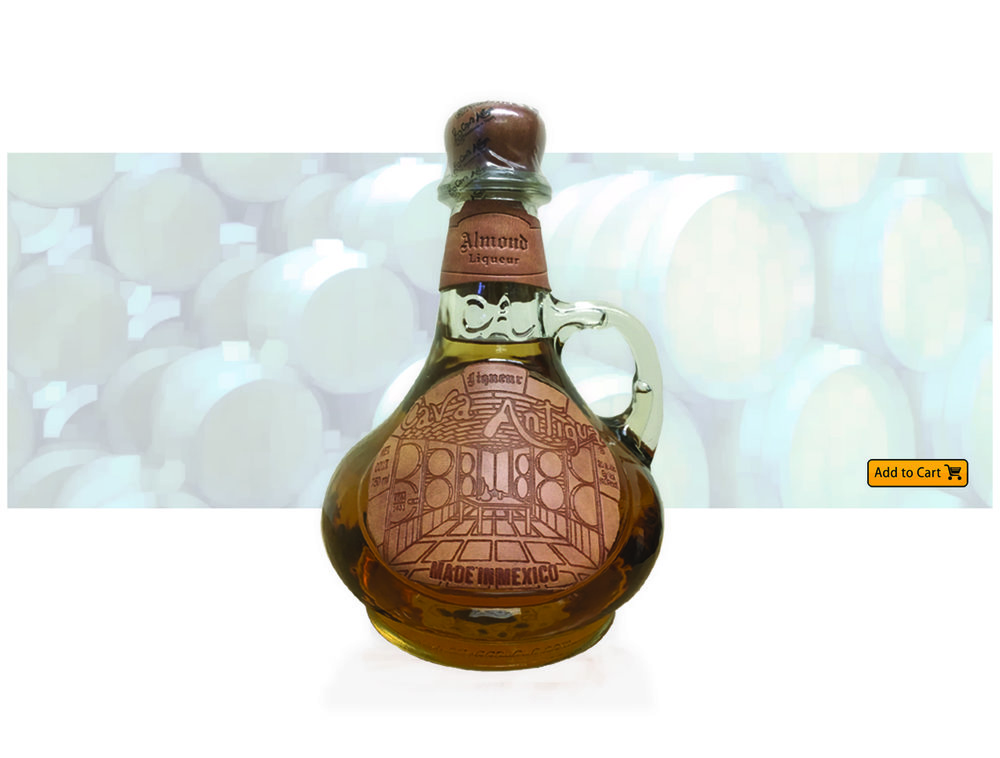 CAVA ANTIGUA  ALMOND TEQUILA Combines the smooth flavor and rich bouquet of the premium Tequila Cava Antigua with the nutty aroma and taste of almonds. Ideal when poured straight over ice or mixed with various citrus juices or coffee. Salud!!!