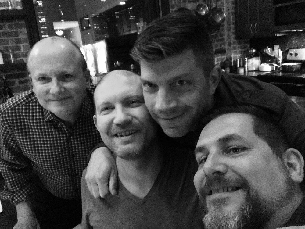Leonard, Jeremy, John, and Rod... ...a few drinks in.