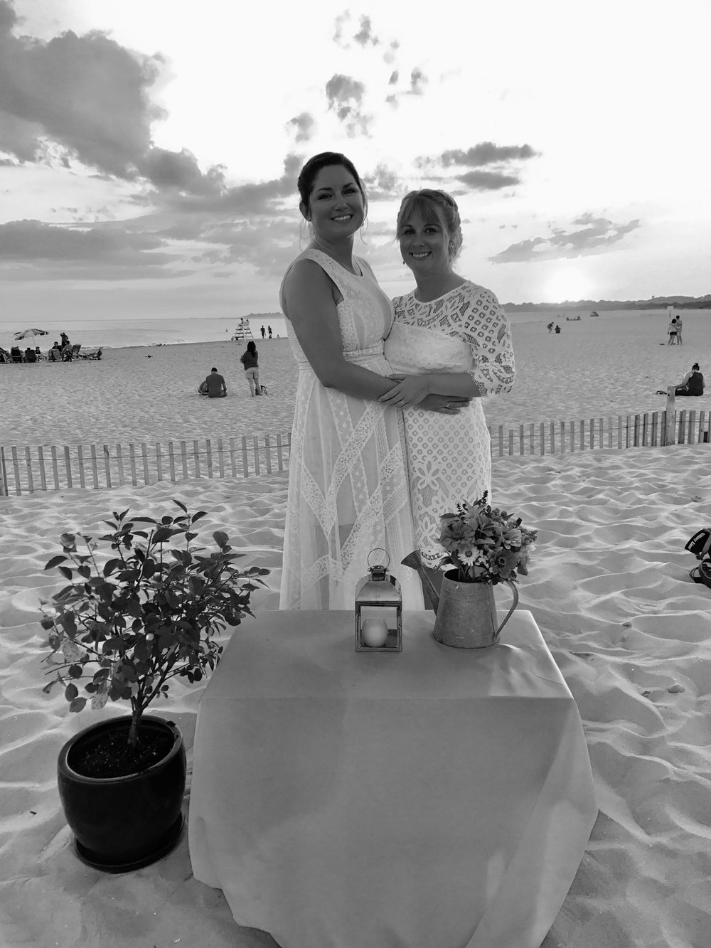 Laura and Jill's gorgeous wedding on the beach in Cape May, New Jersey