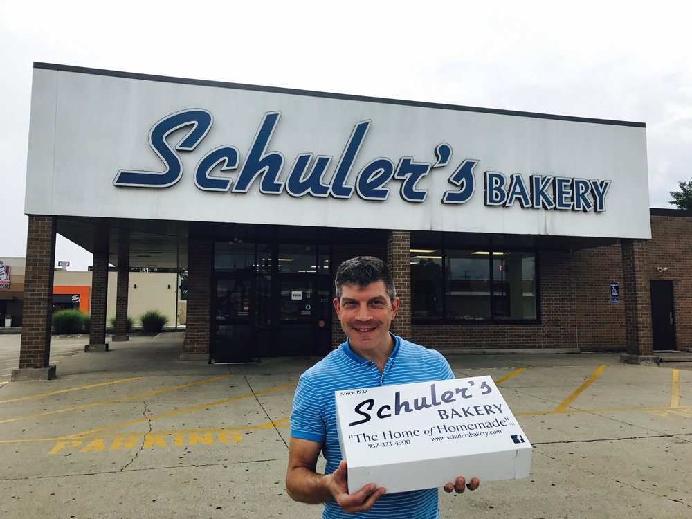 This boy loves his Schuler's Bakery in Springfield, Ohio