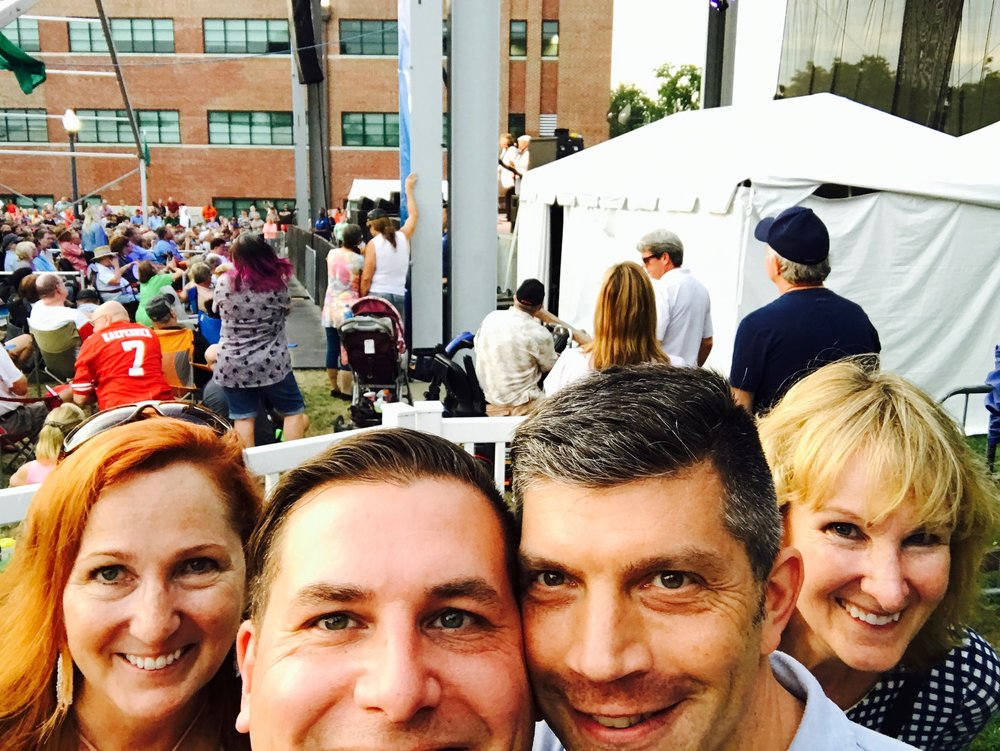 Susan, Rod, John, and Debbie at a State Fair concert