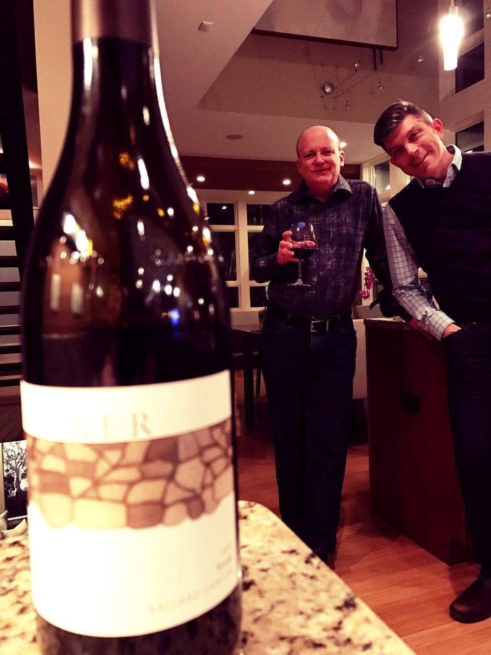 Leonard and John at the house