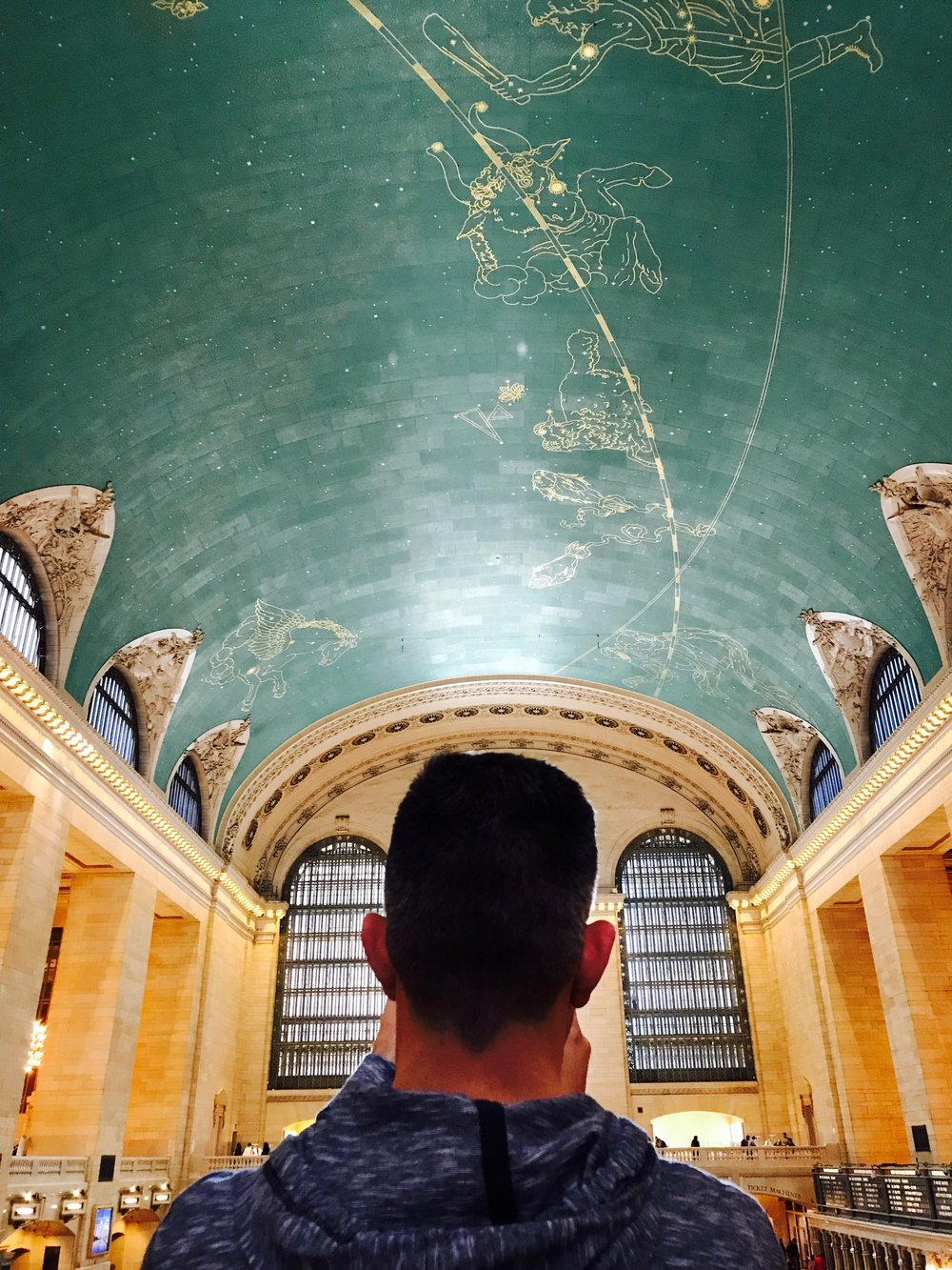 John's halo was showing in the Grand Central Station