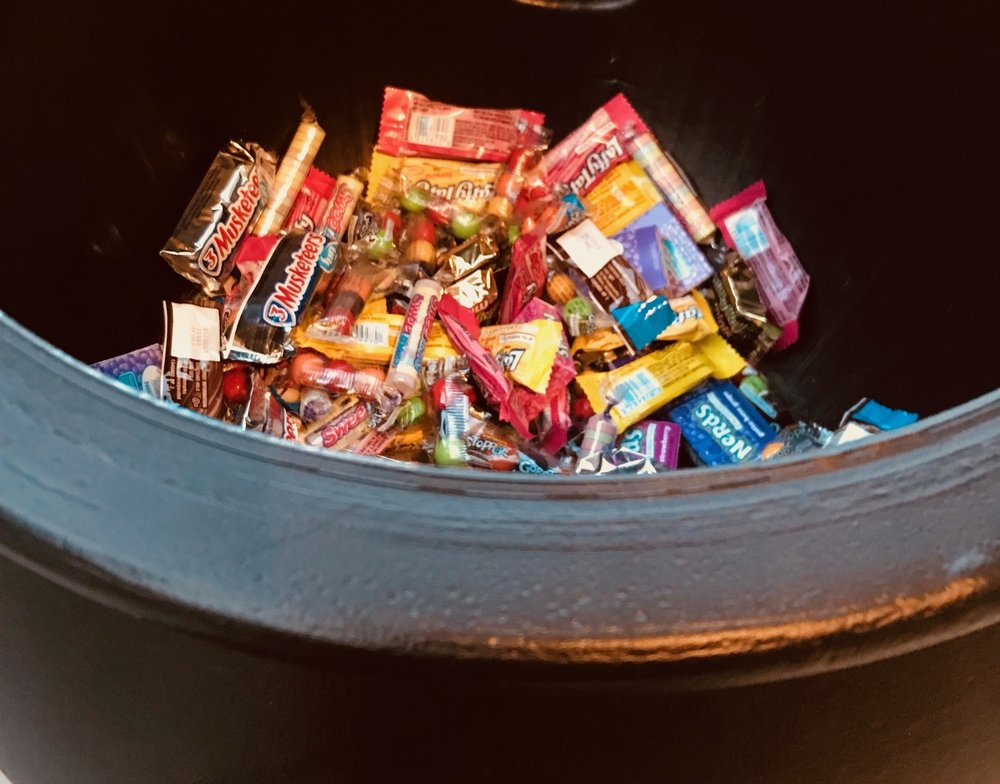 Running out of candy with an hour to go...