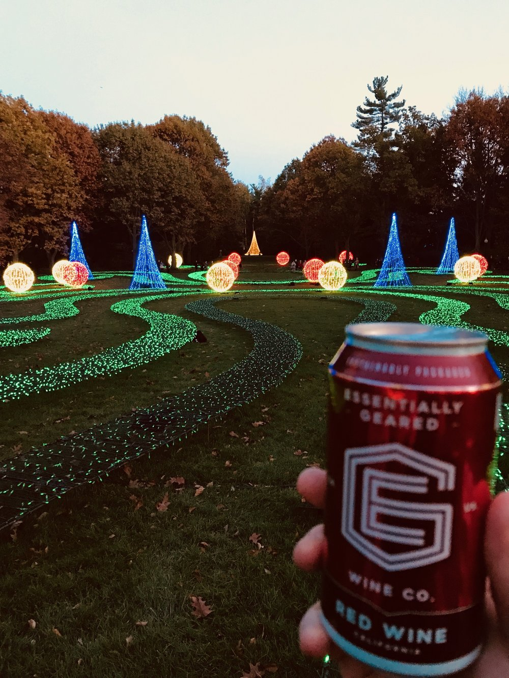 wine in a can at Winterlights