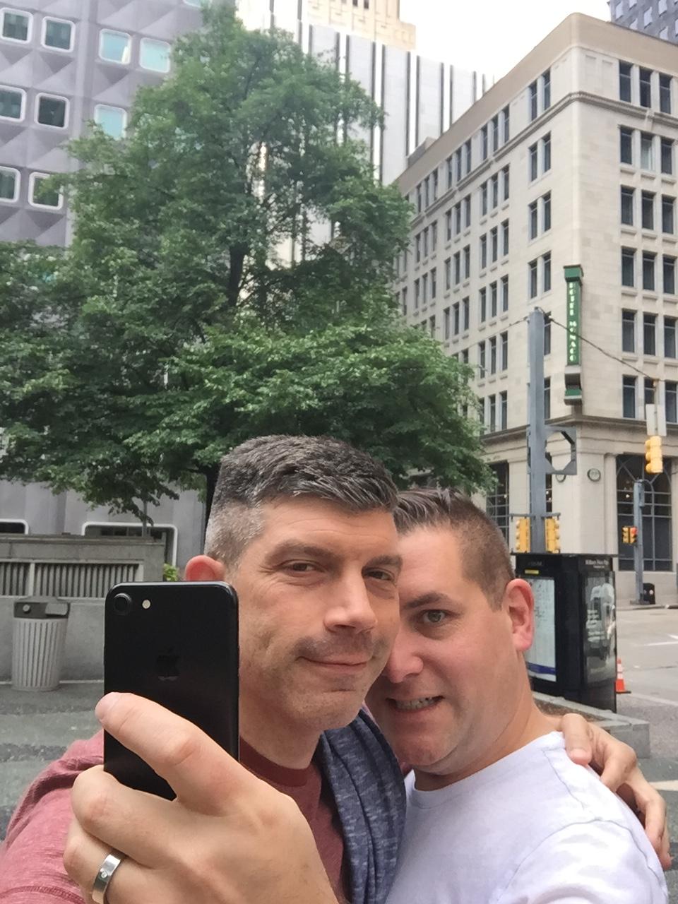 Selfie of a selfie in Pittsburgh