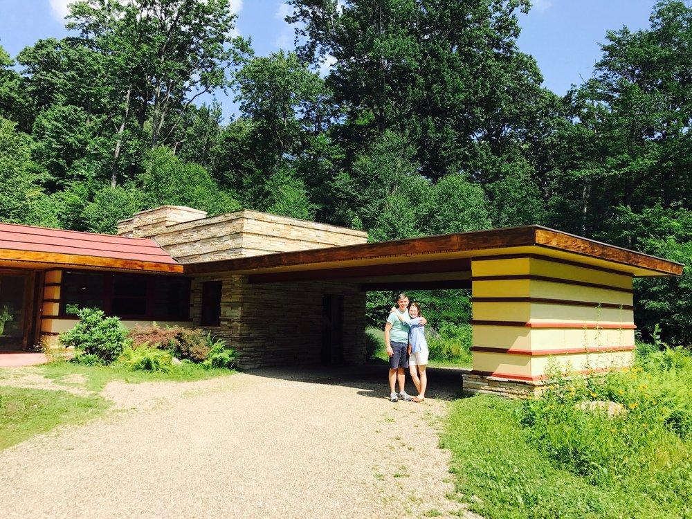 John and Susan at the Duncan House at Polymath Park