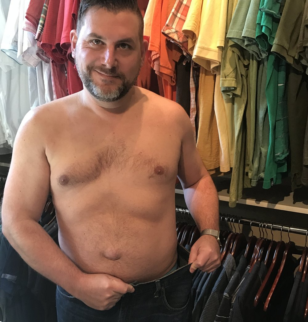 halfway through my weight loss [old belly button]
