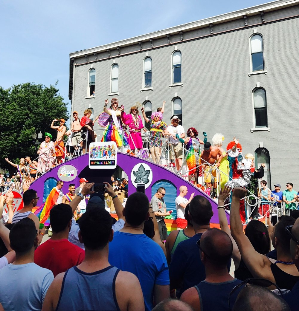 One of many floats at the Pride Parade 2017