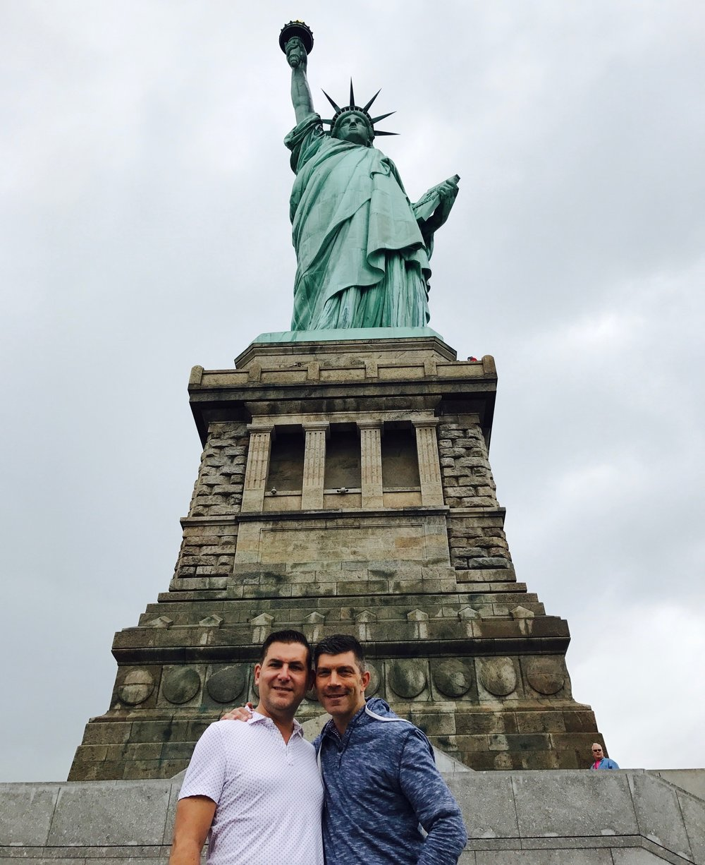 John and I at the base of the Statue of Liberty
