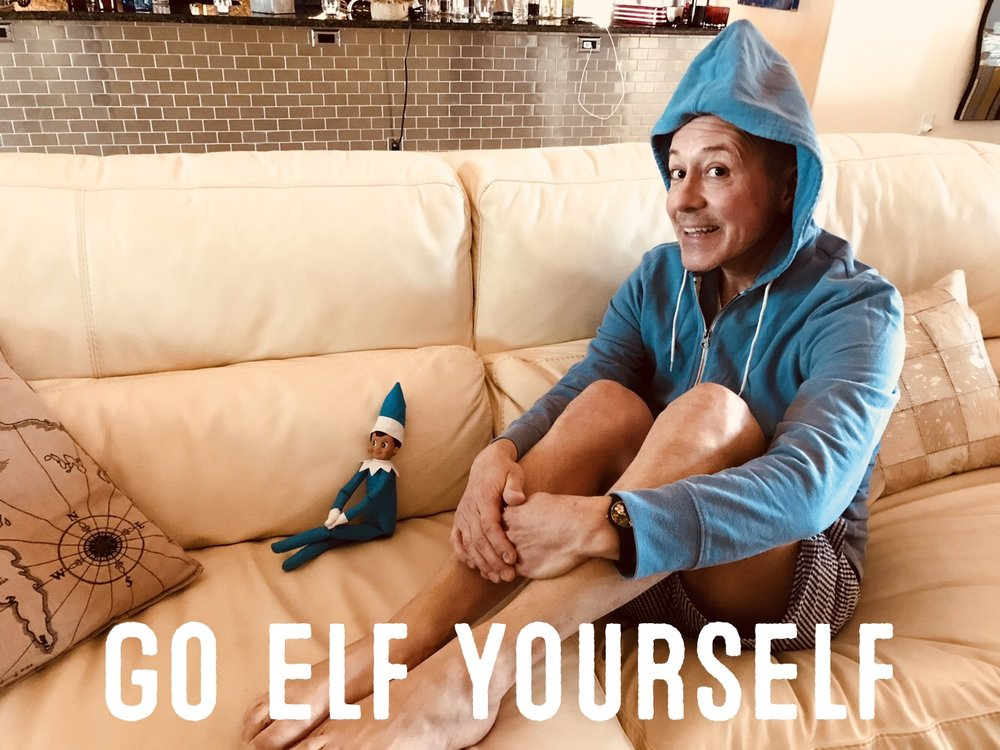 I was shocked to see a blue elf (Jamie even had an elf on the shelf too)