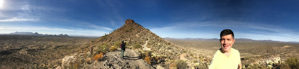 A hike to the top of Brown Mountain in Scottsdale, Arizona