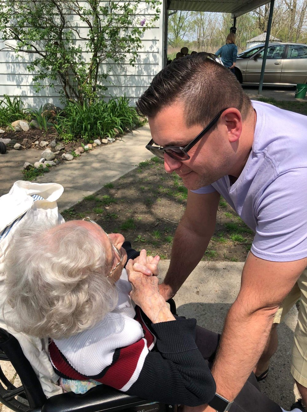 After a day with my beautiful mother, I was also able to visit my grandmother on Mother's Day.