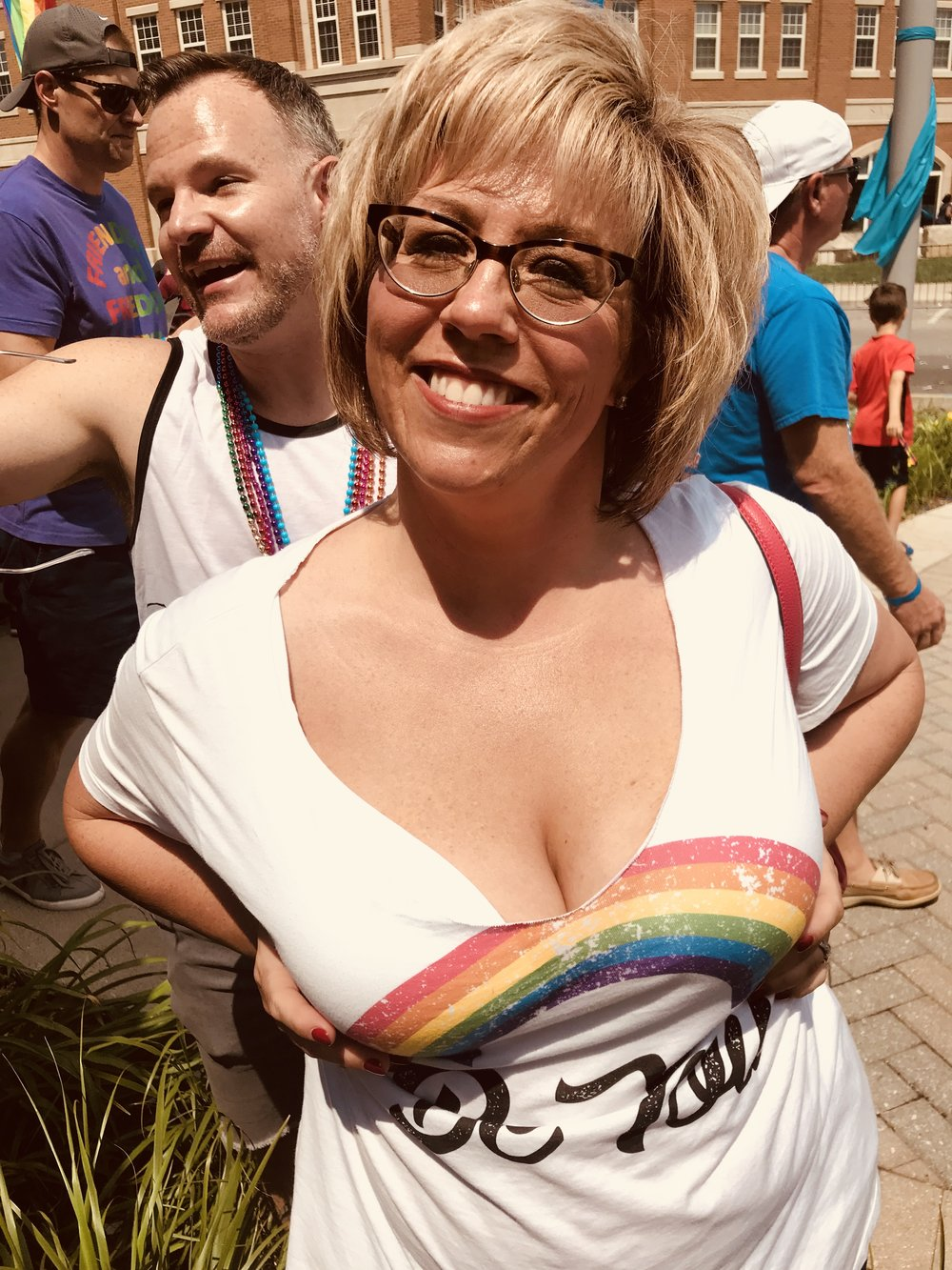 Lisa is beaming with rainbow pride