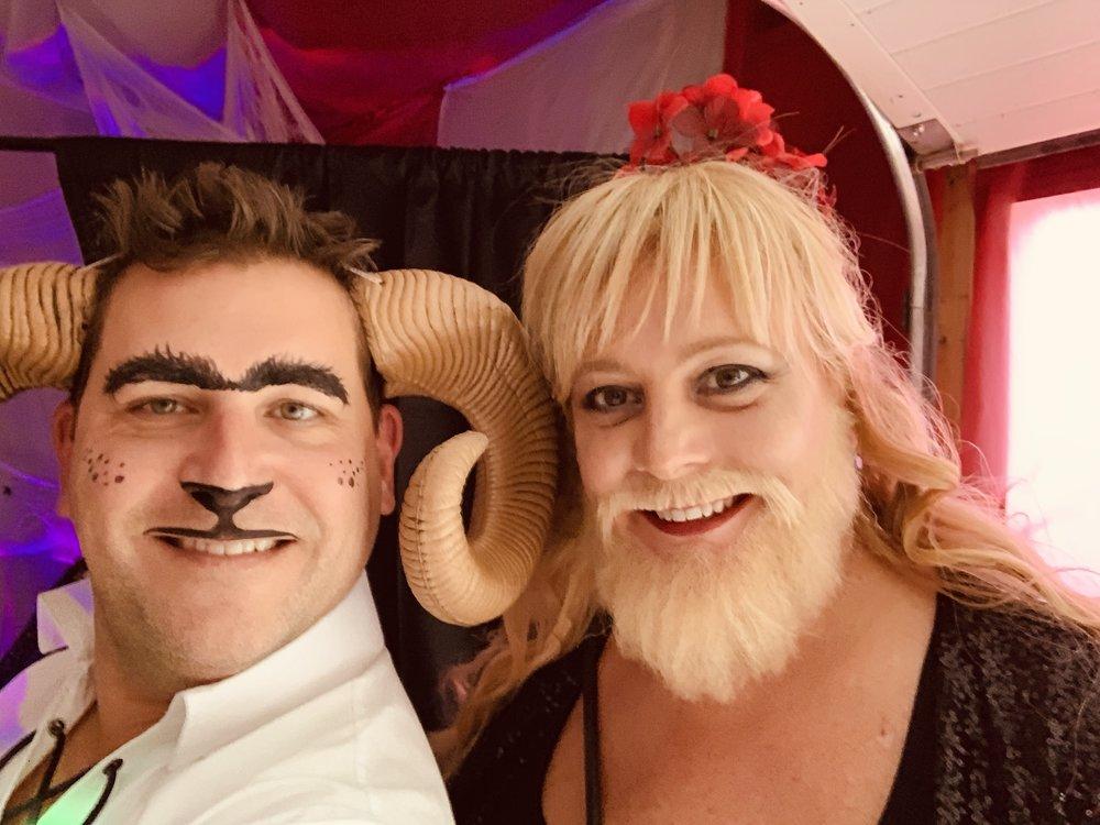 Rod the Ram and Bearded Brooke