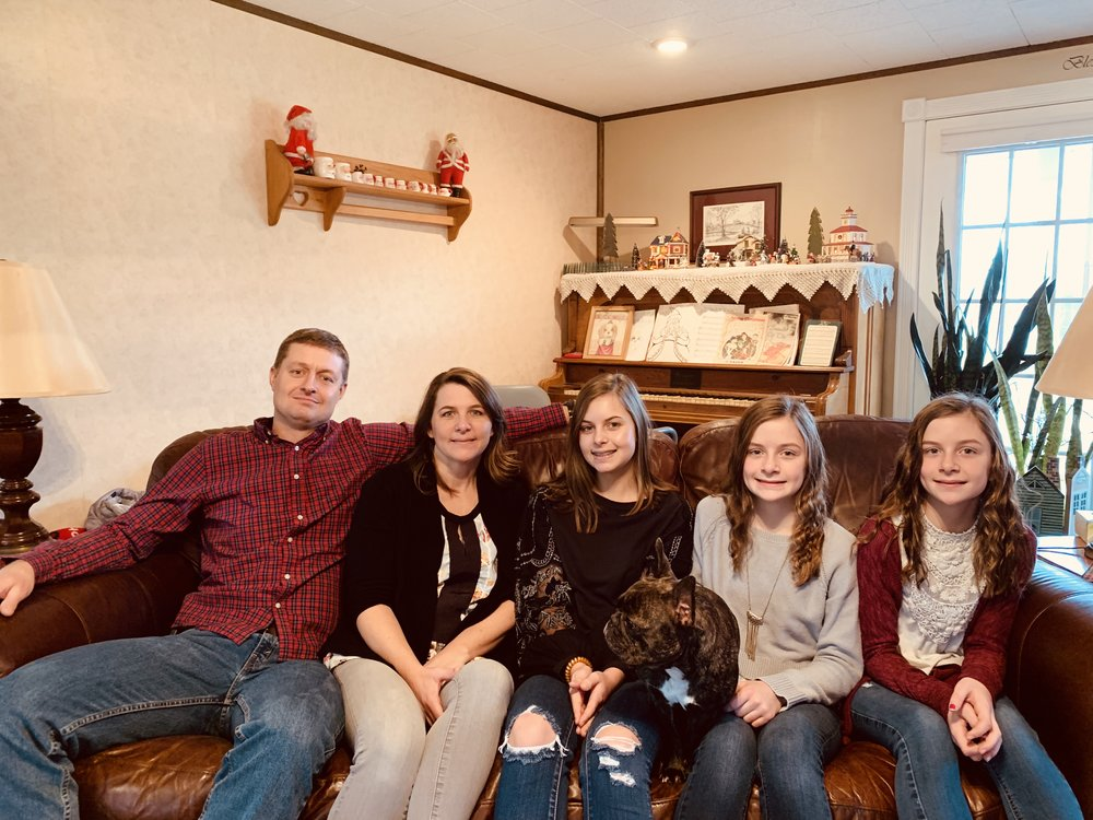 My little sister, Heidi, and her family