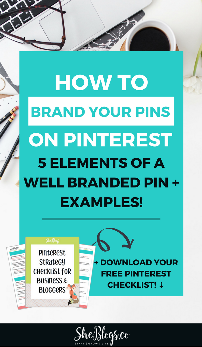 How to brand your pins on Pinterest so they're recognizable and get more clicks and repins. Grow your blog with well branded pins. See examples from some of the best bloggers! #BloggingTips, #BloggingForBeginners, #Branding, #PinterestMarketing
