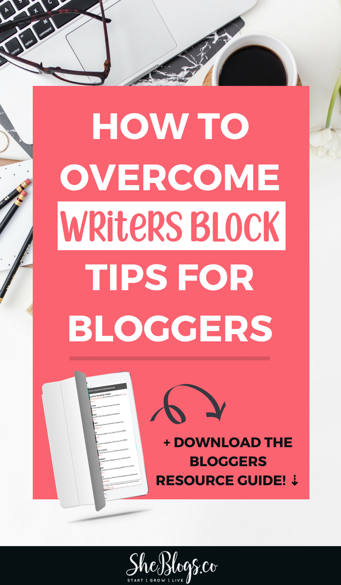 Bloggers need to be able to produce consistent content but sometimes writers block leaves you stuck on a blog post.Check out these tips for overcoming writers block. #BlogPostIdeas, #BloggingTips, #BloggingForBeginners