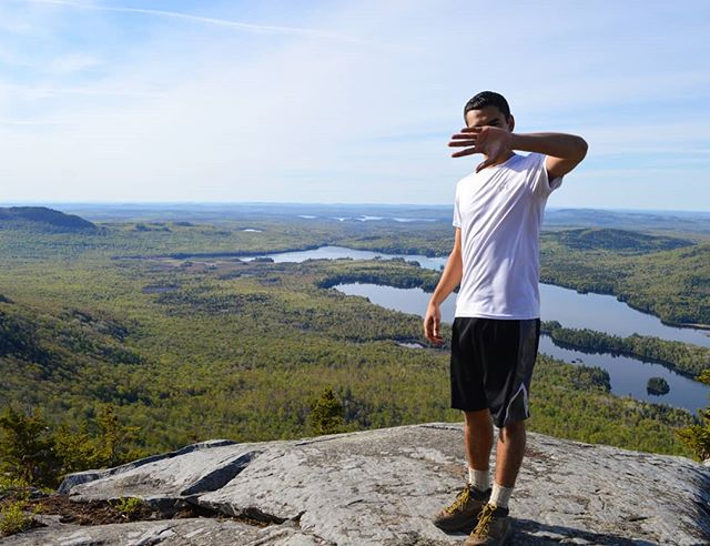 Dylan may not like the camera, but Northern Maine's beautiful backcountry loves it. . . #appalachiantrail  #AT #Maine #100milewilderness