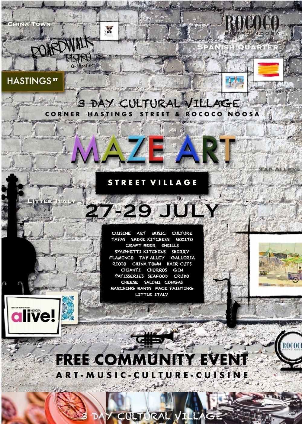 Maze Art Street Village - Noosa Alive