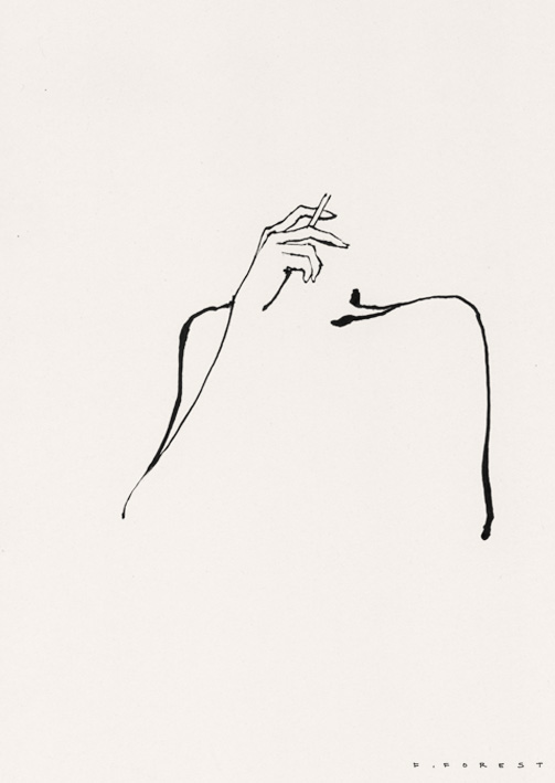 FForest_Drawing_WomanSmoking#7.jpg