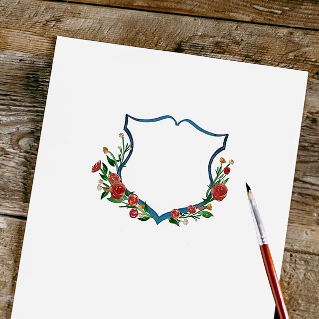 My favorite part of designing custom wedding invitations is being able to incorporate the couples wedding colors and florals in their wedding suite. Every single one is unique. Spent the day designing this wedding crest. Next step is adding their custom calligraphy. ⁣ . . . . . . . . . . .⁣ On other news, I'm putting the brush down  and calling it a day. Heading to Ontario right now because surprisingly my grandma is in town from Mexico!! She's leaving to Israel tomorrow so this is my only chance to see her. I haven't hugged her since I was 22 ⁣😭 .⁣ .⁣ .⁣ .⁣ #watercolor #moderncalligraphy #calligraphy #custominvitations #watercolorcrest #weddingcrest #florals⁣ #weddinginspiration #weddingstyle #weddinginspo #bridetobe #stylemepretty #risingtidesociety #communityovercompetition #weddingwire #creativeentrepreneur #beingboss #weddingstyle #solopreneur #flashesofdelight #greenweddingshoes #thedailywedding #creativepreneur #weddingplanning #gettingmarried #darlingmovement #destinationwedding #shesaidyes #junebugweddings #sozocreativestudio