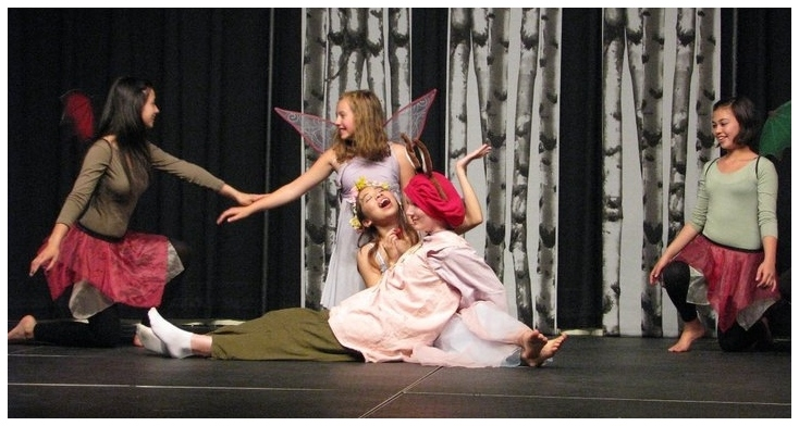 Age 14, playing Titania in  A Midsummer Night's Dream  at Studio East in my first Shakespeare play